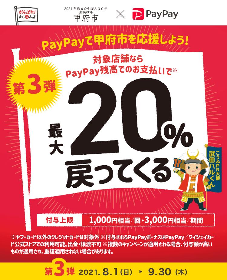 甲府ではPayPay残高支払いでクリーニング代の20%還元キャンペーン